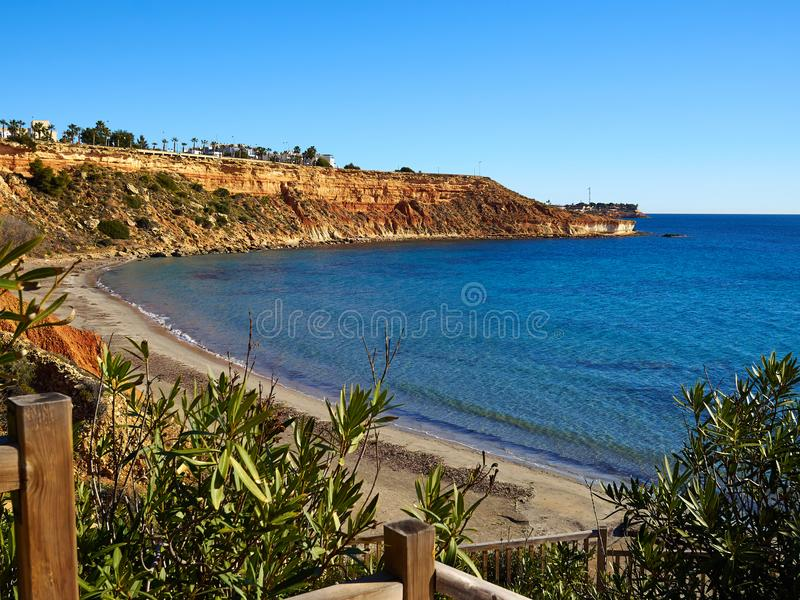 Lato kurortu Orihuela Costa Walencja Hiszpania obraz stock