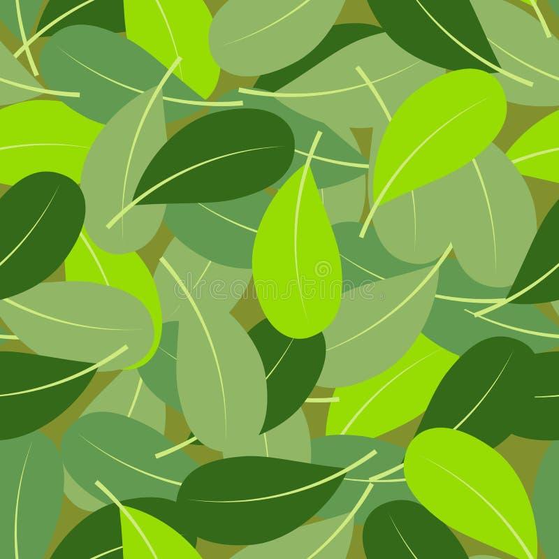 Lato liść bezszwowy wzór royalty ilustracja