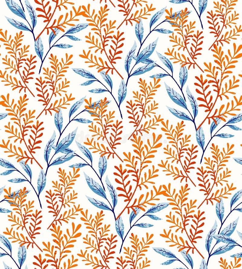 Lato liści wzór royalty ilustracja