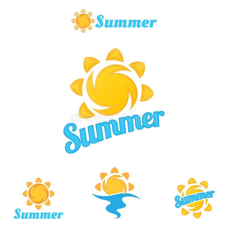 Lato logo, piękne lato ilustracje royalty ilustracja