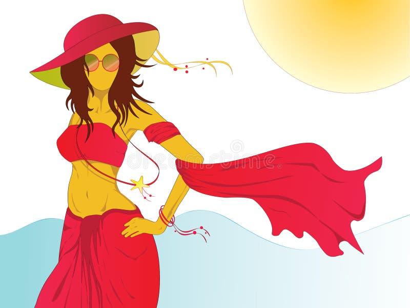 Lato moda na plaży obraz royalty free