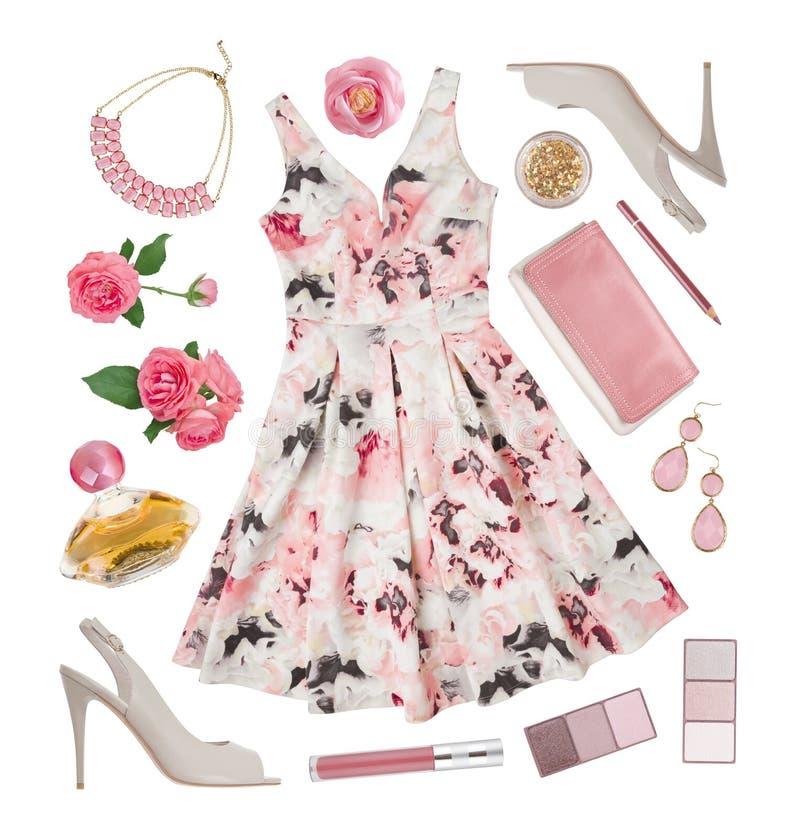 Lato mody odzież i akcesoria elegancka kobieta zdjęcie royalty free