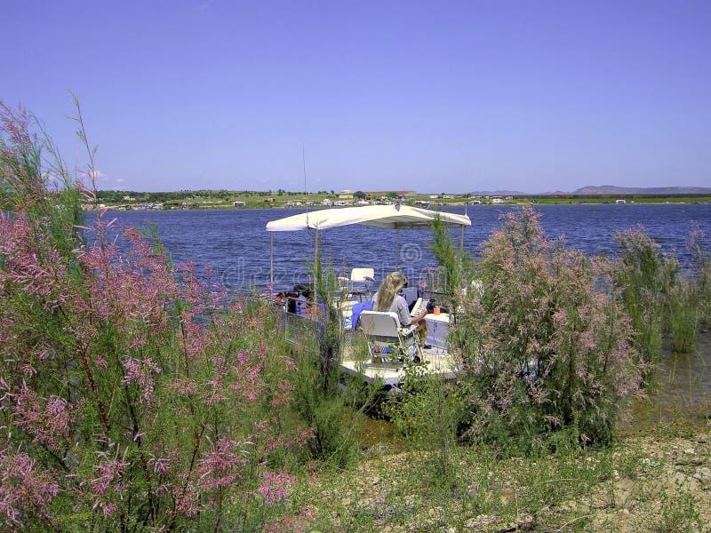 Lato na jeziorze obraz stock