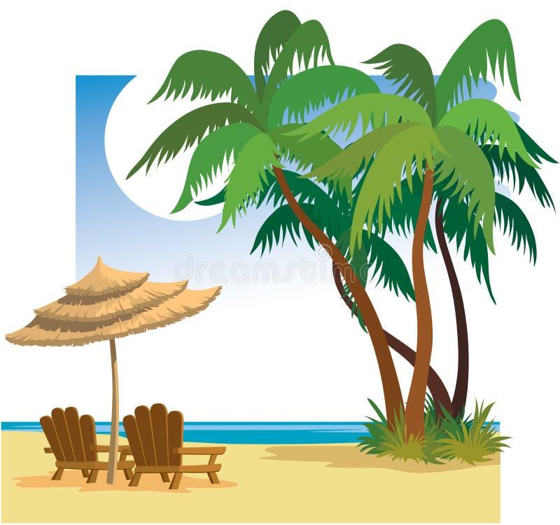 lato na plaży ilustracji