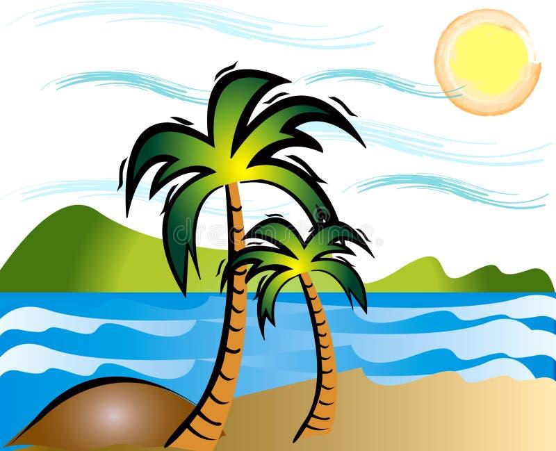 lato na plaży ilustracja wektor