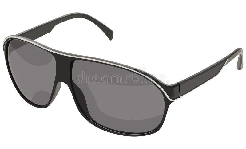 Lato nero degli occhiali da sole illustrazione di stock