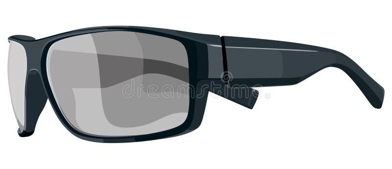 Lato nero degli occhiali da sole royalty illustrazione gratis