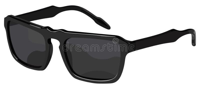 Lato nero degli occhiali da sole illustrazione vettoriale