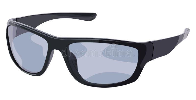 Lato nero e blu degli occhiali da sole illustrazione di stock