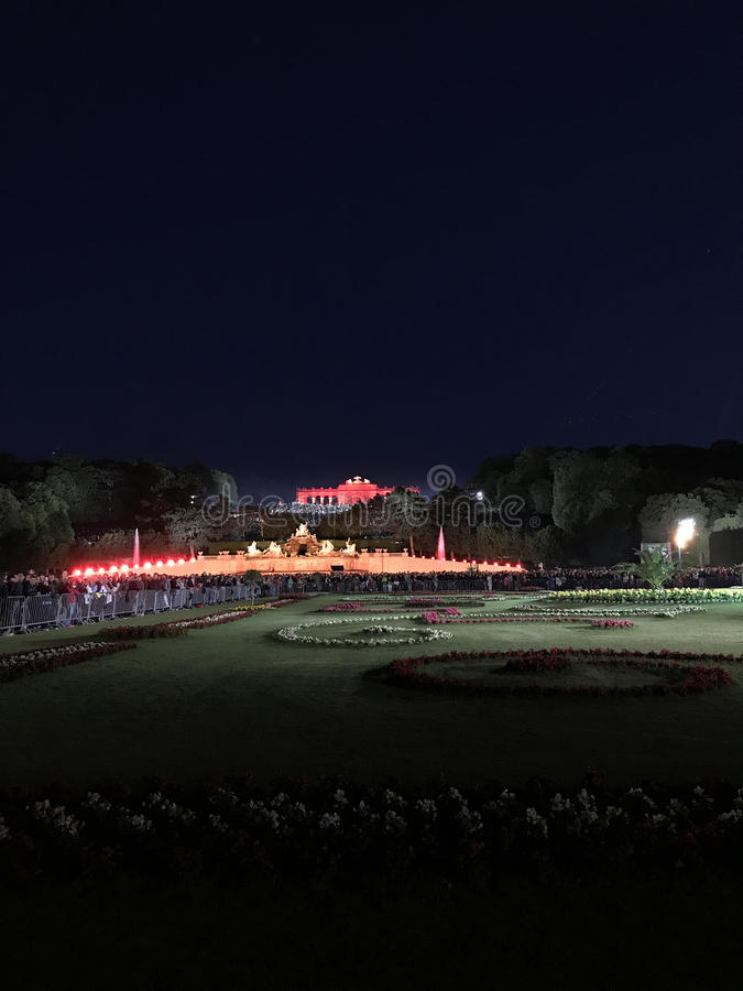 Lato nocy koncert Schönbrunn zdjęcie stock