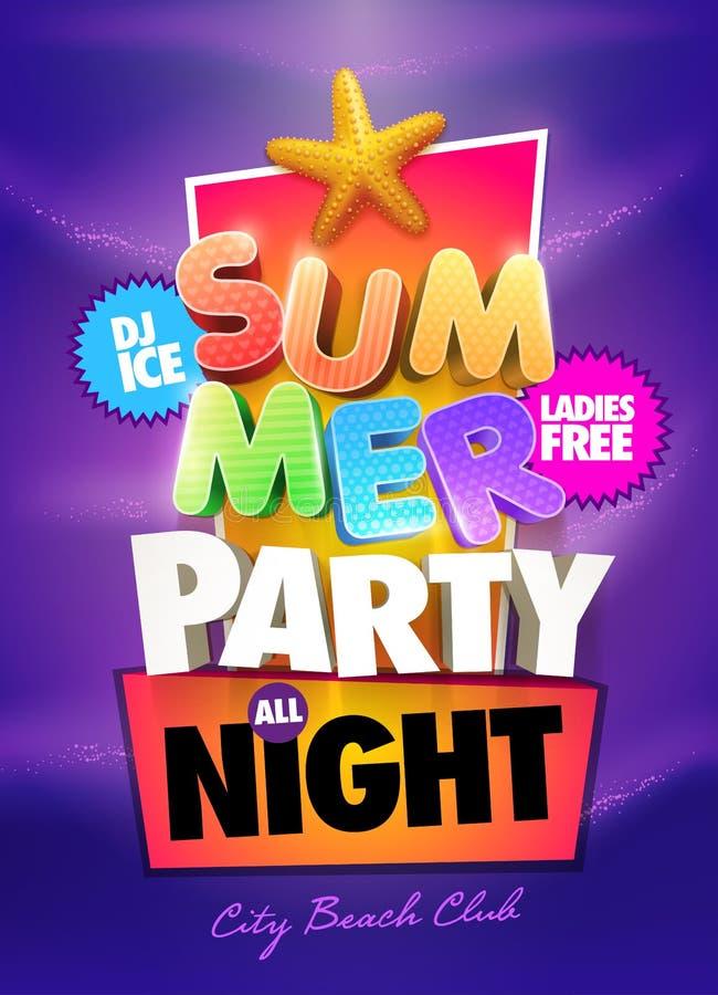 Lato nocy przyjęcie ilustracji