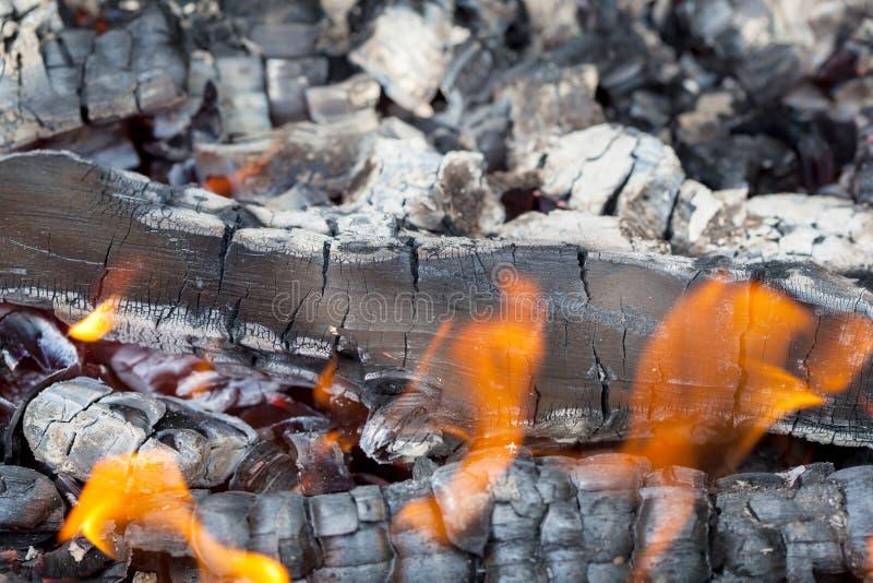 Lato obozu ogień obraz stock