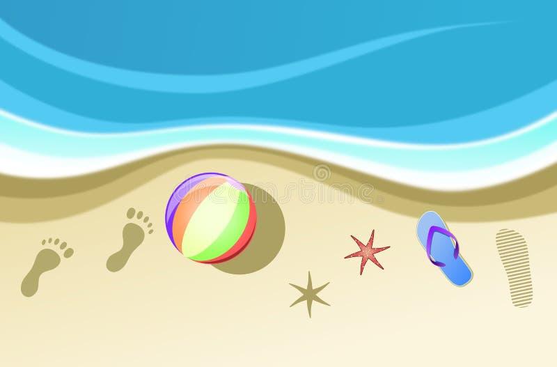 Lato odciski stopy i ikony ilustracja wektor
