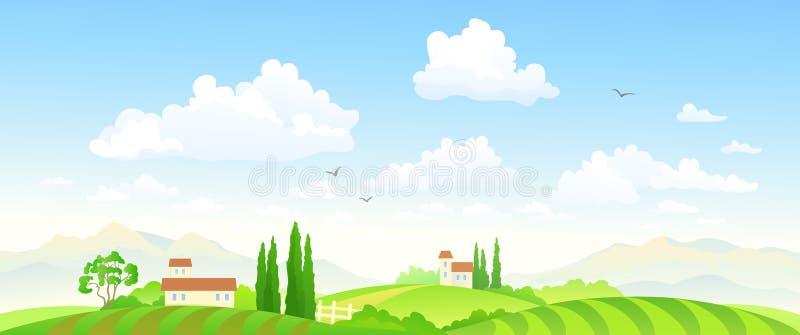 Lato odpowiada sztandar ilustracji