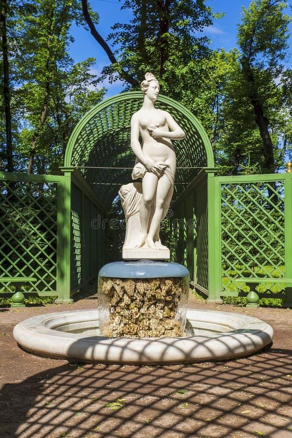 Lato ogród w St Petersburg, Rosja obrazy royalty free