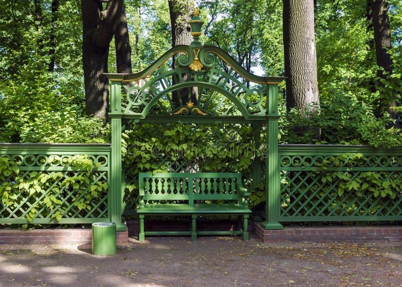 Lato ogród w St Petersburg, Rosja obrazy stock