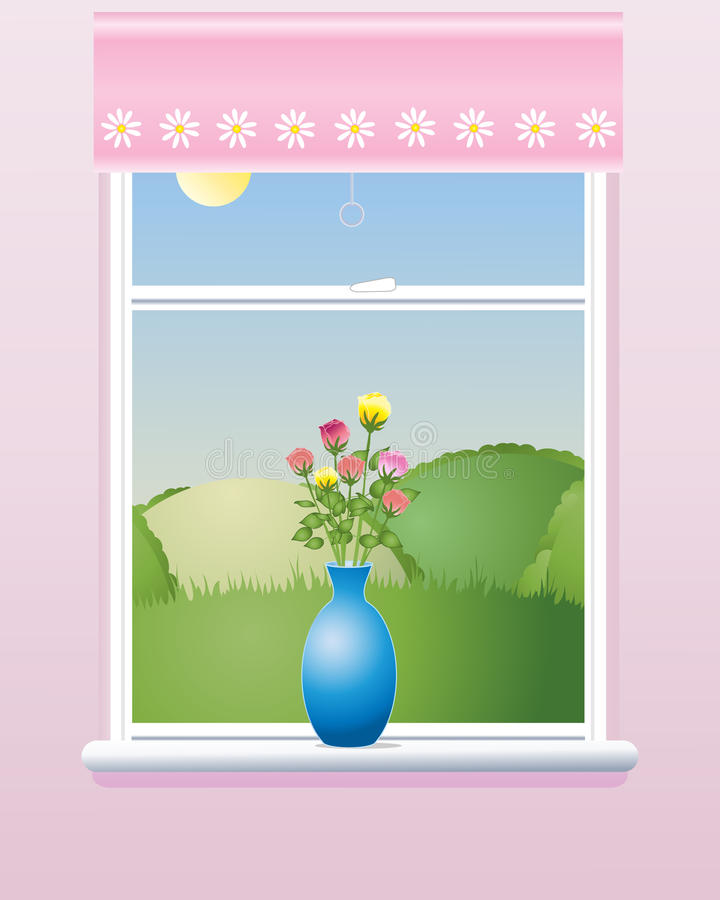 lato okno ilustracja wektor