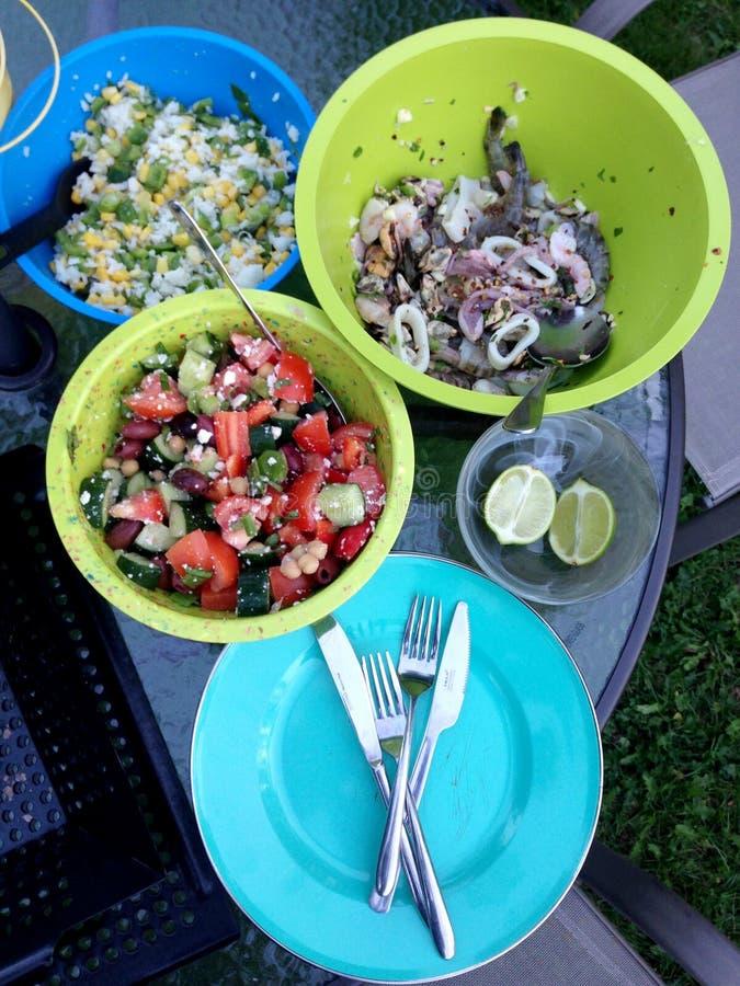 Lato owoce morza BBQ fotografia stock