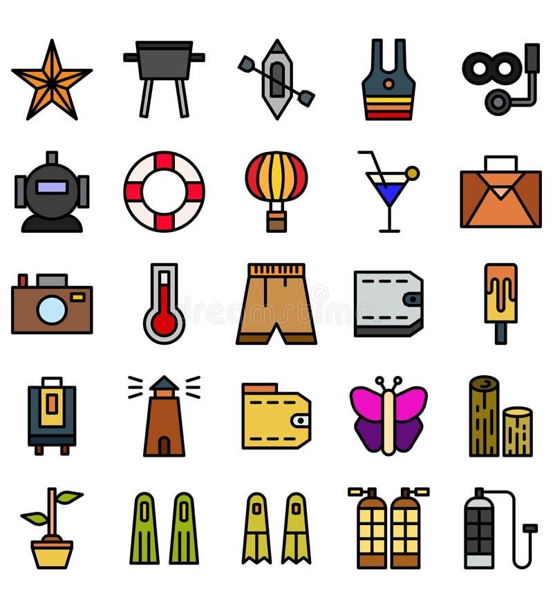 Lato płaskiego koloru logo wektorowa ikona lub ilustracja Editable kolor i uderzenie Doskonalić używa dla wzoru i projekta grafik ilustracji