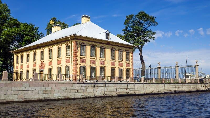 Lato pałac Peter Ja, St Petersburg obraz royalty free