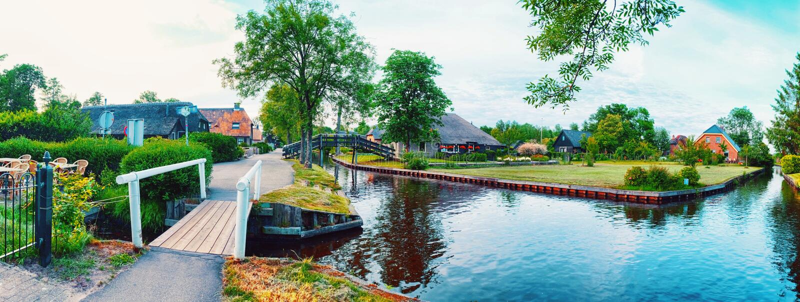 Lato panorama holenderska wioska fotografia royalty free