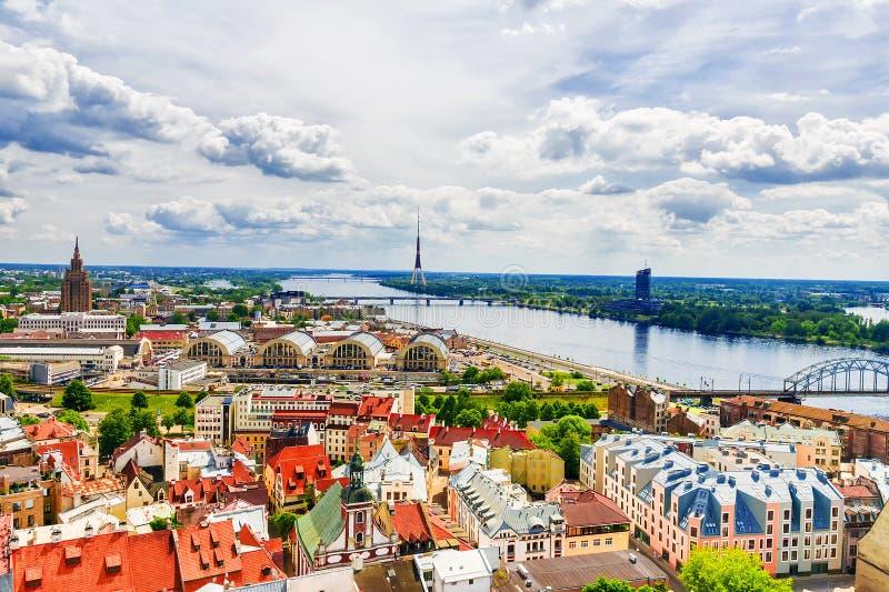 Lato panorama Ryski, Latvia zdjęcia stock