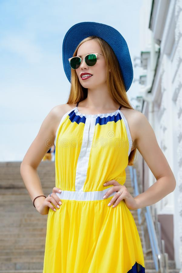 Lato piękna suknia obraz royalty free