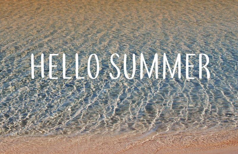 Lato piękny zachód słońca na plaży obraz royalty free