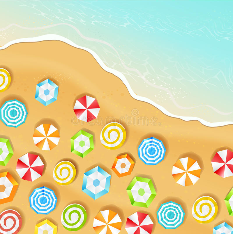Lato plaża, wektor royalty ilustracja