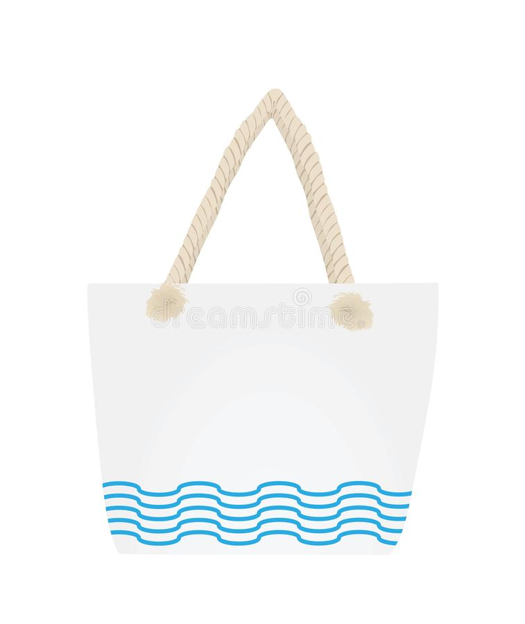 Lato plażowa torebka royalty ilustracja