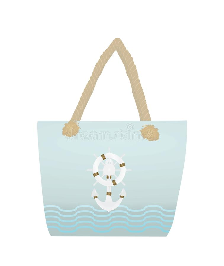 Lato plażowa torebka ilustracja wektor