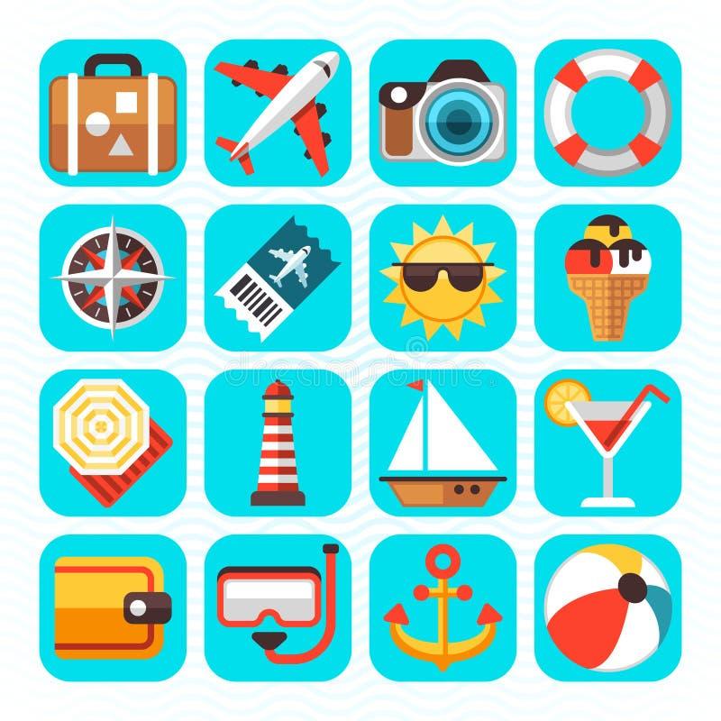 Lato plaży podróży turystyka i wakacje royalty ilustracja