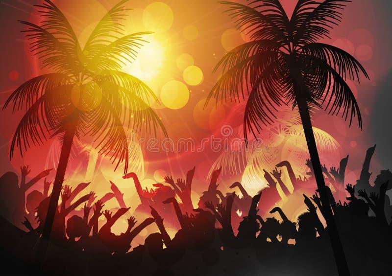 Lato plaży przyjęcia plakat - Wektorowa ilustracja royalty ilustracja