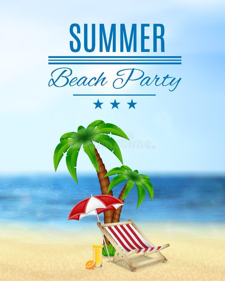 Lato plaży przyjęcie ilustracja wektor