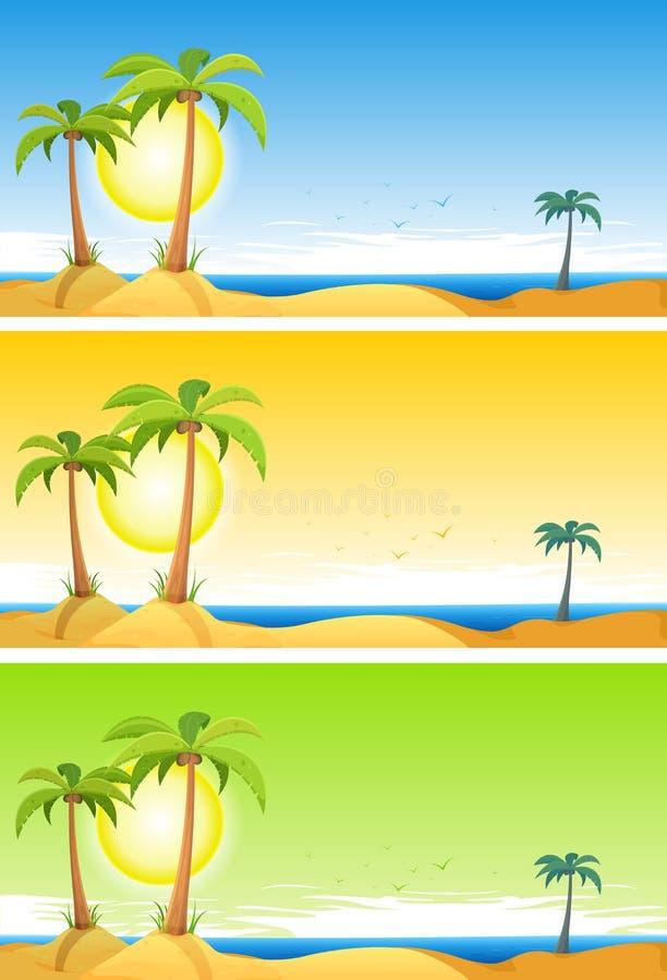 Lato plaży Tropikalny set royalty ilustracja