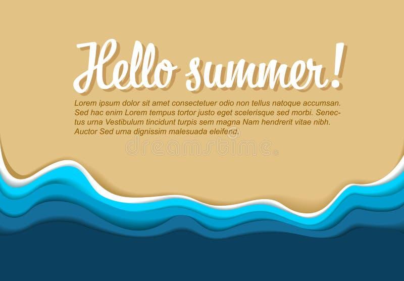 Lato Plakatowy Wektorowy szablon ilustracji