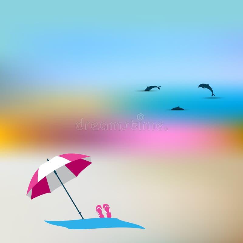 Lato plamy pojęcie ilustracja wektor