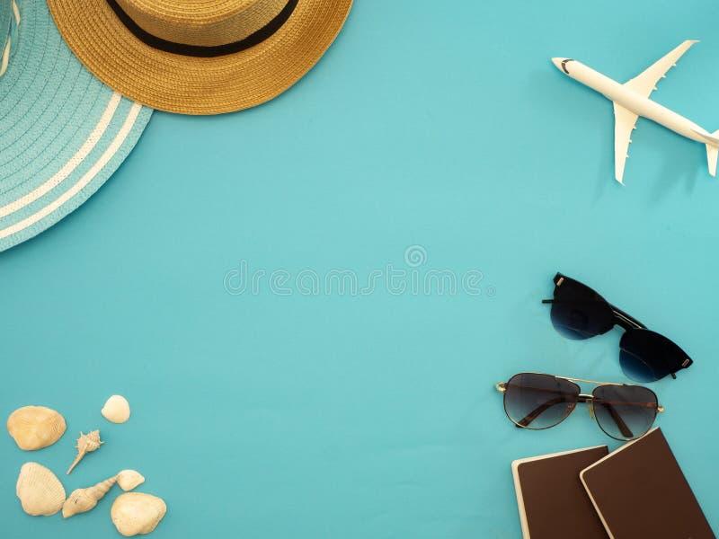 Lato podróży pomysły i plaża przedmioty zdjęcie stock