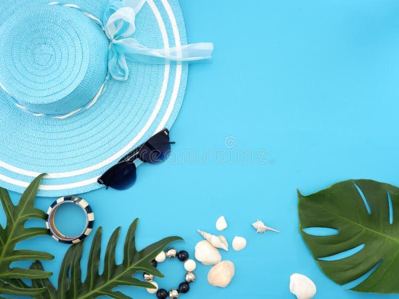 Lato podróży pomysły i plaża przedmioty zdjęcia stock