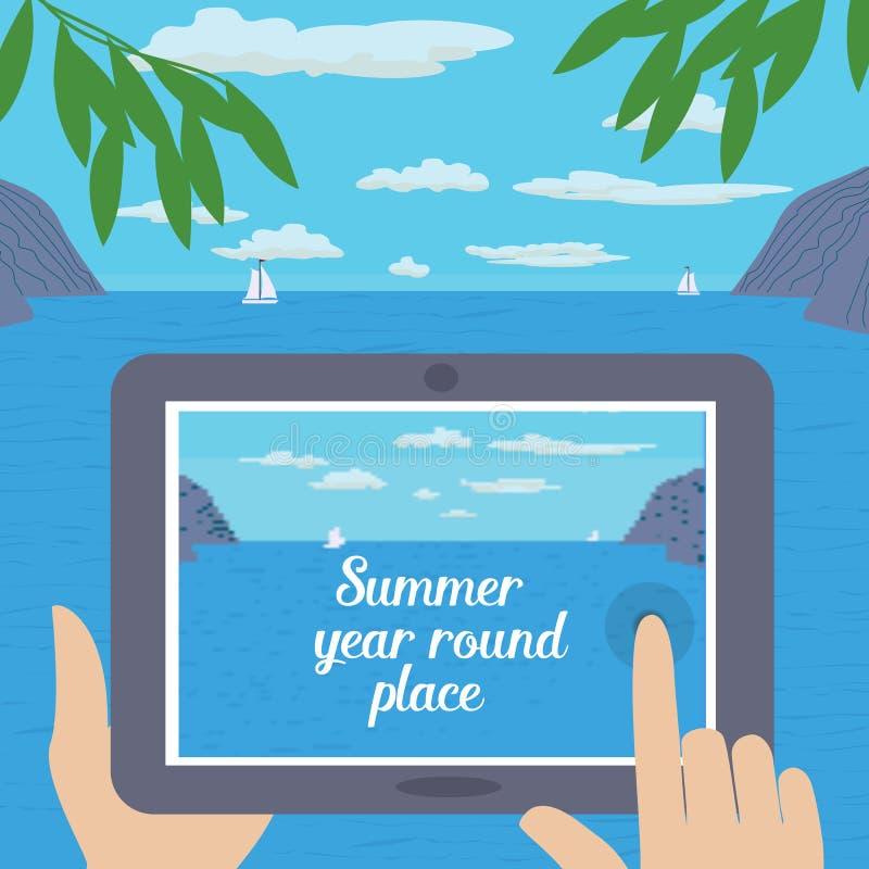 Lato podróży porady royalty ilustracja