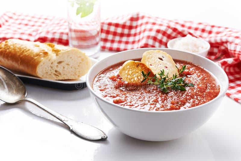 Lato pomidoru polewka obraz stock