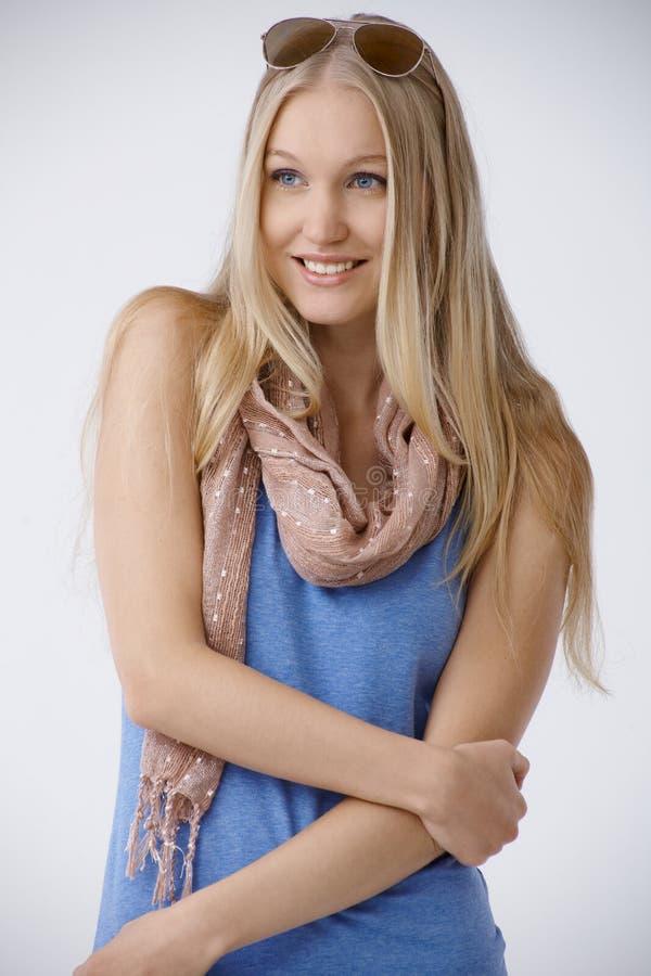 Lato portret piękna północna kobieta zdjęcia stock
