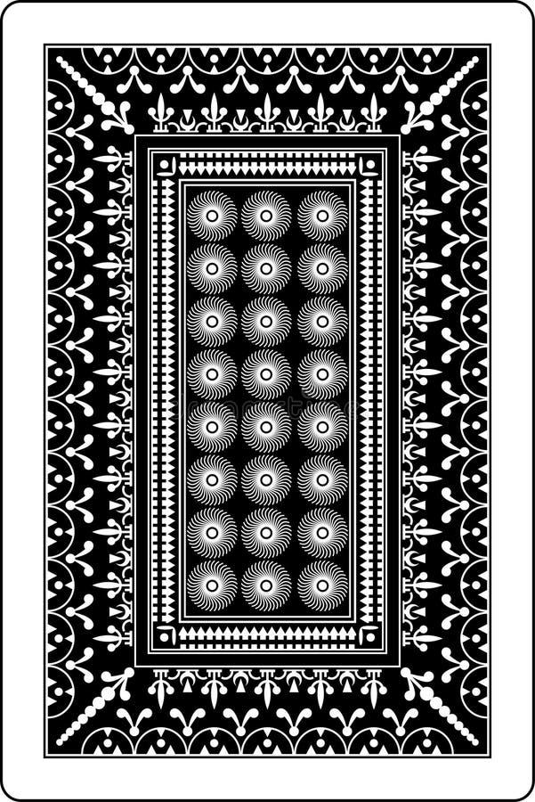 Lato posteriore 60x90 millimetro della scheda di gioco royalty illustrazione gratis