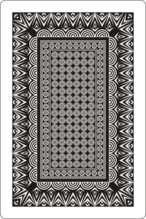 Lato posteriore 60x90 millimetro delle schede di gioco in bianco e nero illustrazione di stock