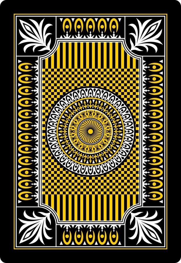 Lato posteriore 62x90 millimetro della scheda di gioco royalty illustrazione gratis