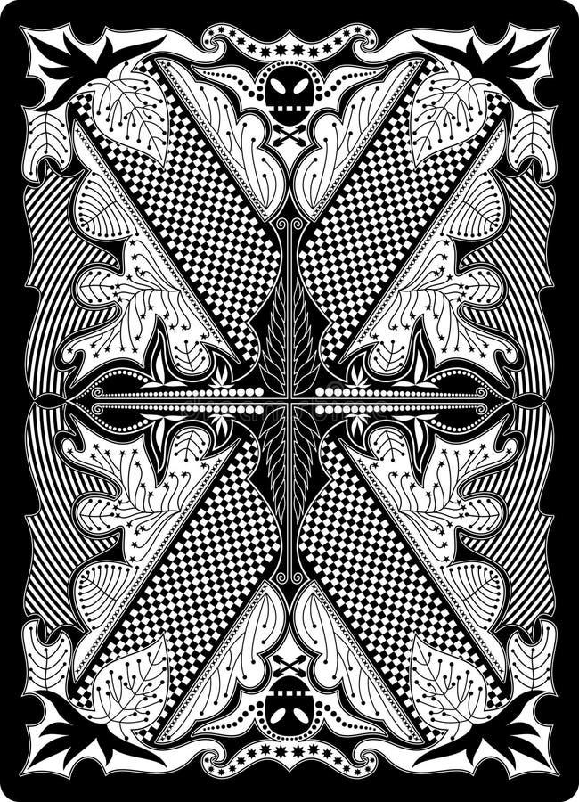 Lato posteriore 65x90 millimetro della scheda di gioco illustrazione di stock
