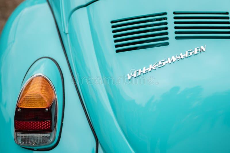 Lato posteriore dell'automobile d'annata di volkswagen fotografia stock libera da diritti