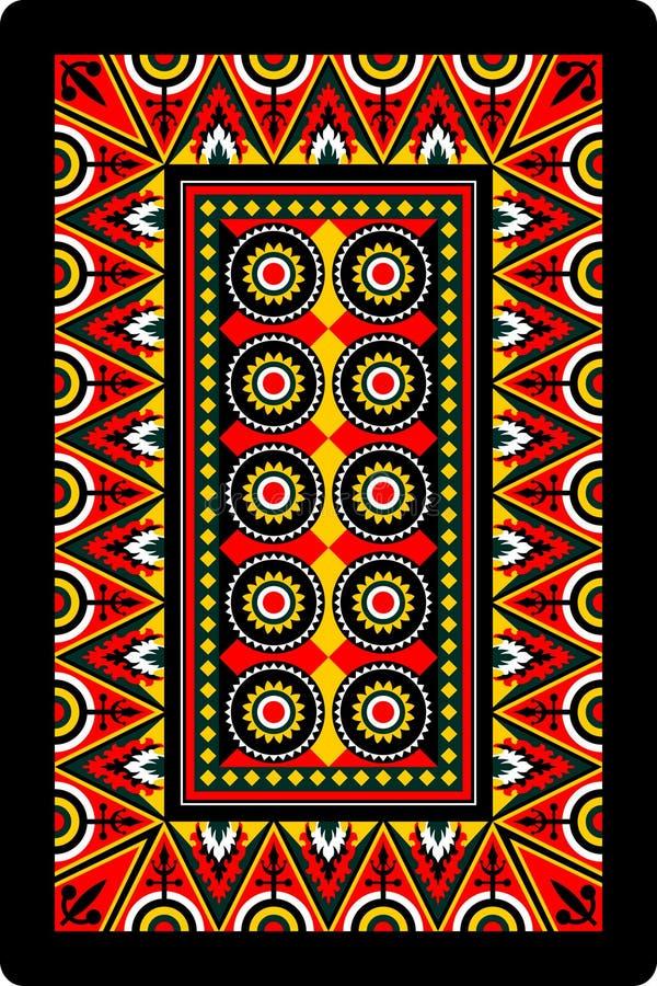 Lato posteriore dell'ornamento della scheda di gioco 60x90 millimetro illustrazione di stock