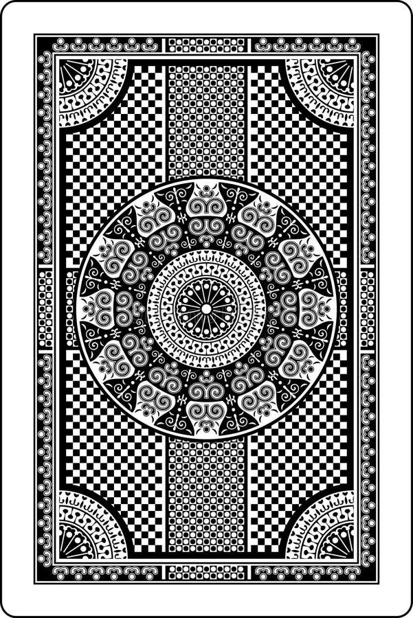 Lato posteriore della scheda di gioco royalty illustrazione gratis