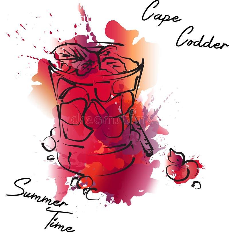 Lato prętowy koktajl z jagodami royalty ilustracja
